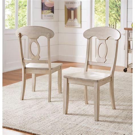 napoleon wood dining chair homesullivan sawyer antique white wood napoleon back