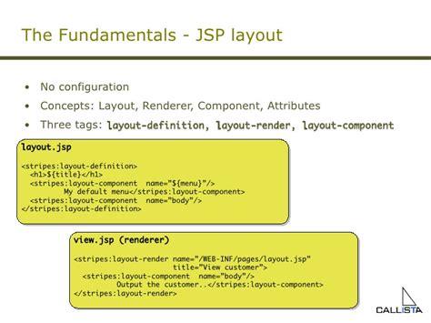 layout jsp tag stripes framework