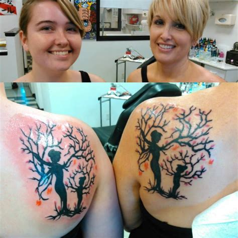 mother daughter tree tattoo 31 beautifully ideas pictures