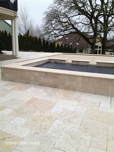 travertine tile patio ivory travertine pool tiles and pavers traditional