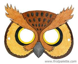 Owl Mask Template by The Gallery For Gt Felt Owl Mask Template