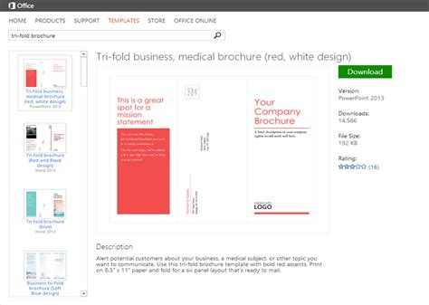 microsoft office leaflet template how to create a company brochure on a budget spicy