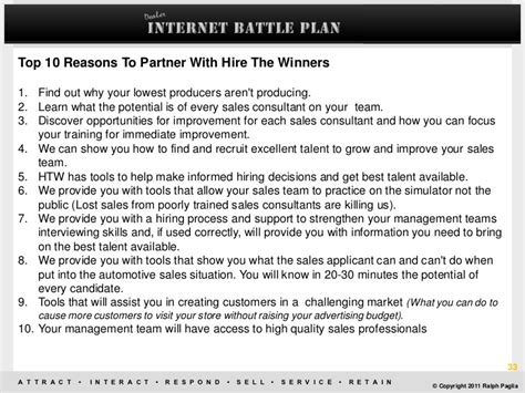 sle of script battle plan growing your bdc and sales