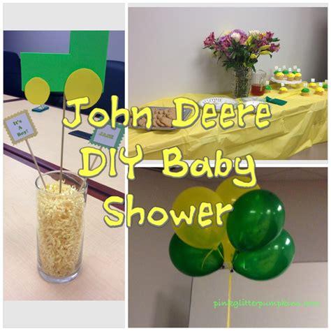 Pink Deere Baby Shower by Deere Diy Baby Shower Pink Glitter Pumpkins