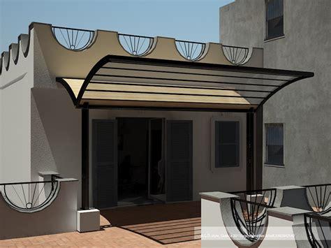progetto terrazzo pensilina su terrazzo realizzato da orlando