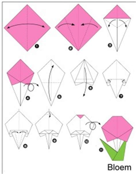How To Make Simple Origami Flowers - easy origami craft for crafts and worksheets for