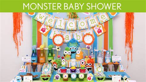 Do It Yourself Decoration by Monster Baby Shower Party Ideas Monster S19 Youtube