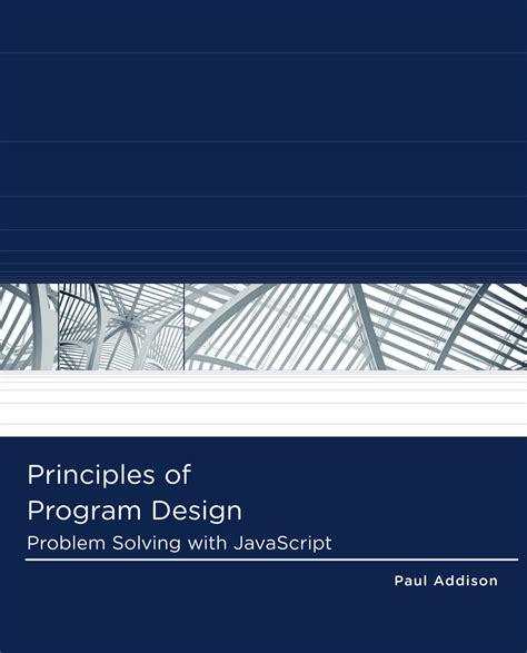 label design principles principles of program design problem solving with