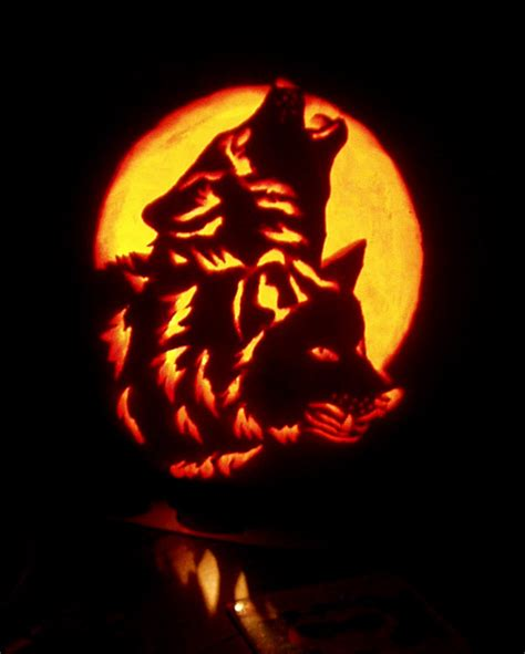 wolf pumpkin template wolves by sylverwolffe on deviantart