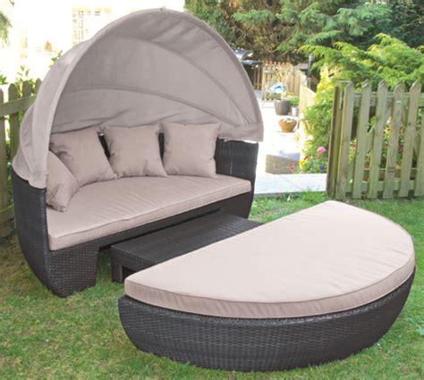 outdoor rattan day bed garden teak
