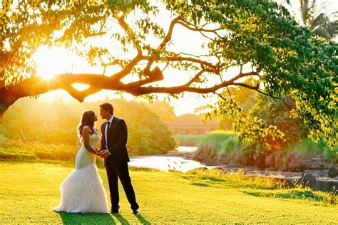 Golden Hour at Waimea Valley   Oahu Wedding Photography by