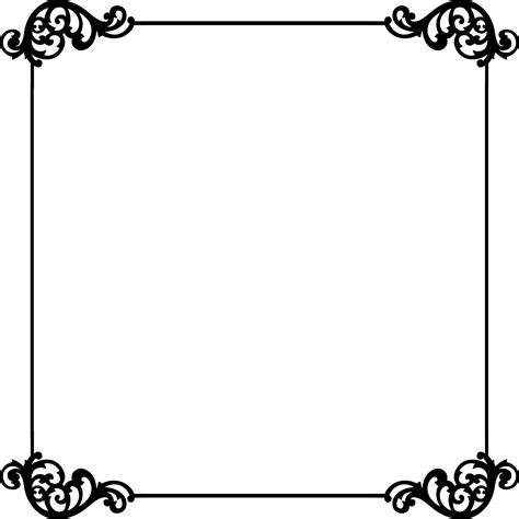 border templates black and white border template clipart best