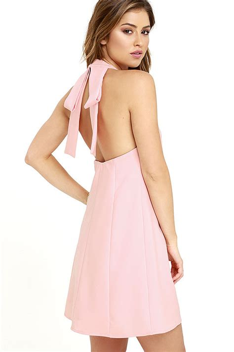 Dress Lavisa blush pink dress backless dress swing dress 54 00