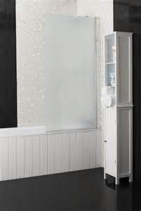 frosted shower screens over bath 25 off roman embrace 6mm frosted modesty bath screen
