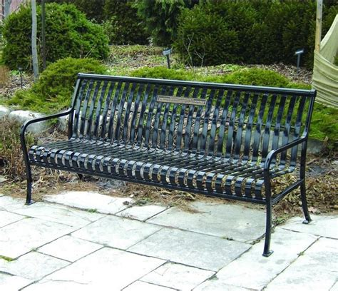 outdoor commercial benches paris equipment premier steel commercial park bench