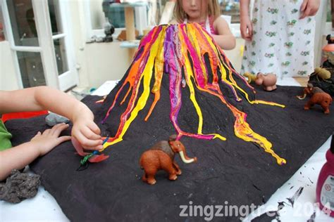 How To Make A Paper Volcano - papier mache volcano