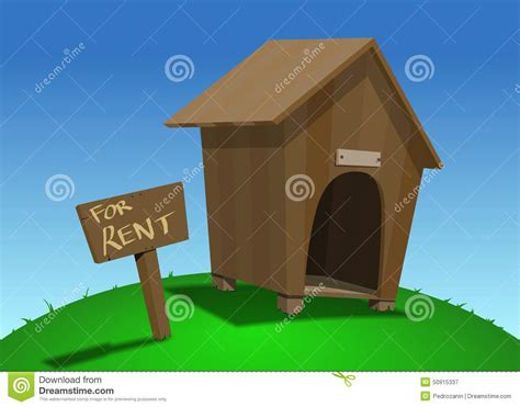 houses for rent with dogs dog house for rent stock illustration image 50915337