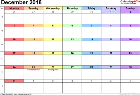 Calendar December 2017 January 2018 Excel Calendar December 2018 Uk Bank Holidays Excel Pdf Word