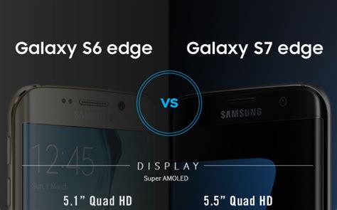 Harga Samsung S7 Edge Dan S6 Edge perbandingan spesifikasi galaxy s7 edge vs galaxy s6 edge