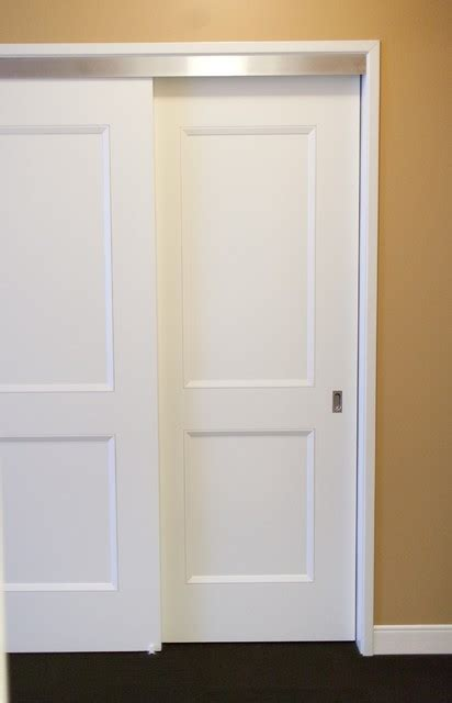 Installing Bypass Closet Doors Bypass Doors Contemporary Closet Chicago By Supa Doors