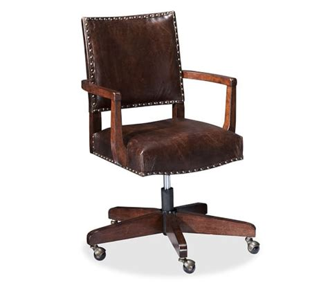 Deak Chair by Manchester Swivel Desk Chair Pottery Barn