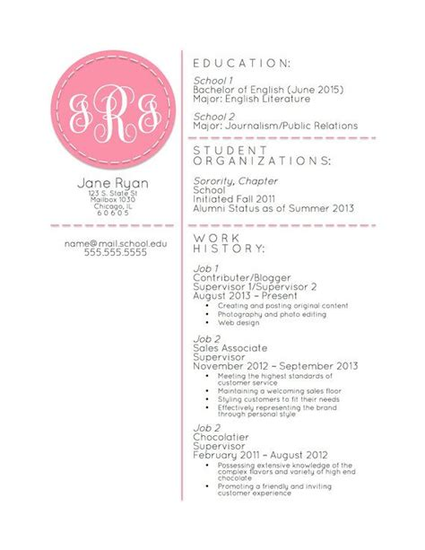 monogrammed resum 233 template microsoft word by workingprepdesigns only 10 00 with coupon code