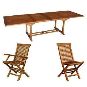 ensemble de jardin en teck huil 233 mobilier de jardin table