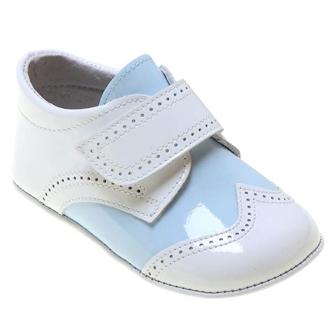 white shoes for baby baby boys baby white blue patent shoes cachet