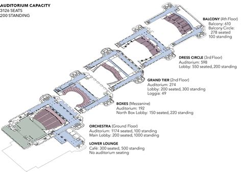 opera house floor plan san francisco war memorial floor plans