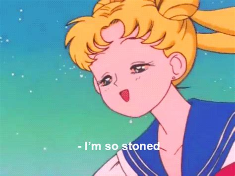 stoned sailor moon gif find amp share on giphy