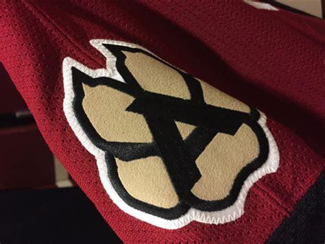 Kaos Baju Hockey Arizona Coyotes Logo Wordmark what no peyote coyote uni