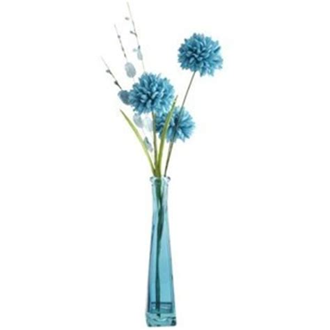 Blue Vase With Flowers by Blue Flower In Glass Vase Polyvore