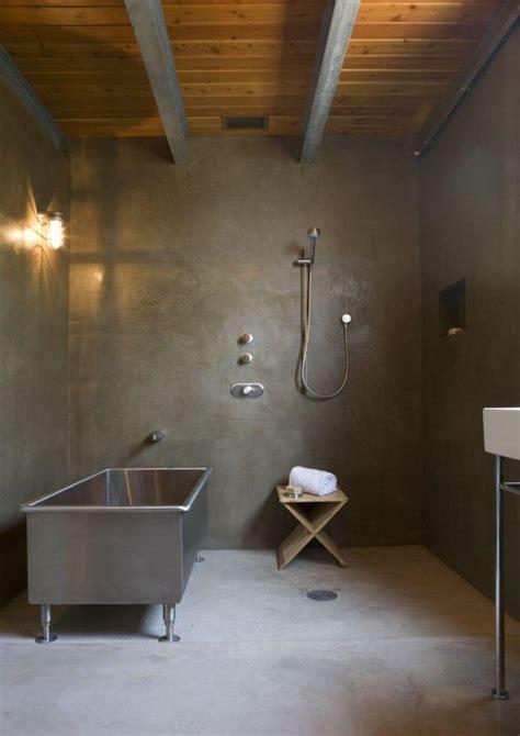 Concrete Shower Walls by 15 Bold Bathroom Designs With Concrete Walls Rilane