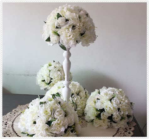 New Free Shipping 10pcs Lot Wedding Road Lead Artificial Floral Balls Centerpieces