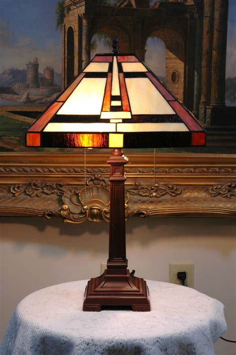 Stained Glass Desk Ls by 14 5 Quot W Mission Style Stained Glass Style Table