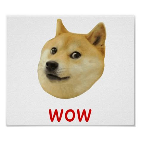 doge wow poster doge very wow much dog such