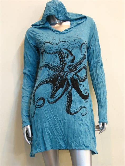 design turquoise hoodie sure design womens octopus hoodie dress turquoise sure