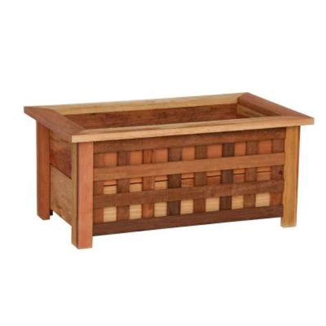 Planter Box Home Depot by Hollis Wood Products 18 In X 31 In Wood Planter Box With