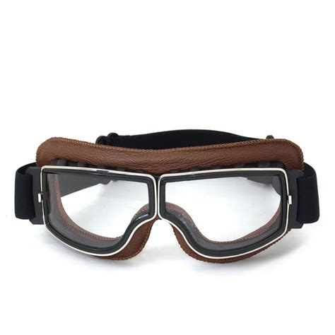 Motorradhelm Brille by New Arrival Retro Universal Scooter Goggles Vintage