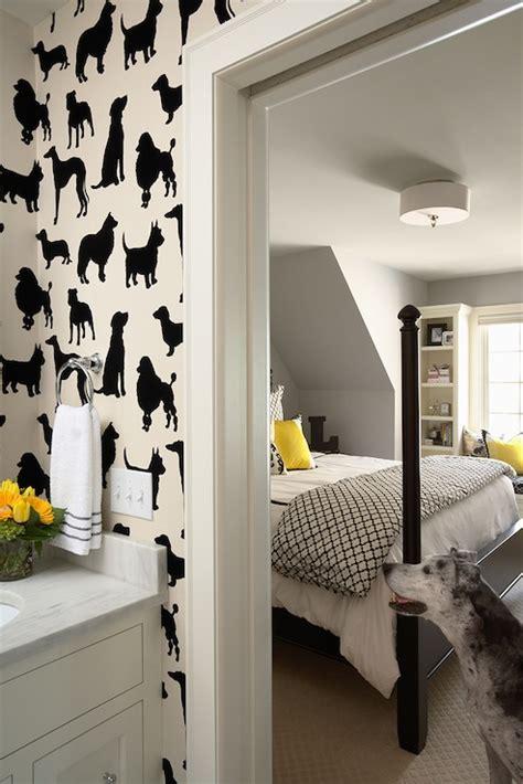 wallpaper dog design dog flock velvet wallpaper contemporary boy s room