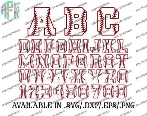 printable baseball numbers digital cut files baseball letters numbers softball