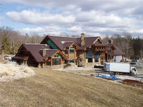 tony homes tony s new log house tony stewart pinterest
