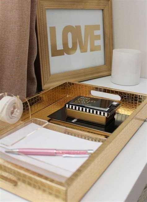 gold office accessories for the home