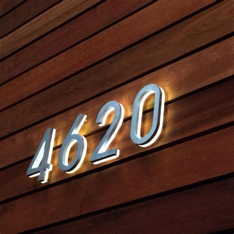solar powered house numbers address illuminated lighted backlit 8 quot house numbers illuminated outdoor luxello