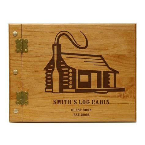 log cabin book a log cabin personalized guest book journal cabin journals book and cabin
