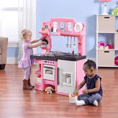 Step2 Cooks Kitchen by Step2 Coffee Time Kitchen Includes 21 Piece Cook Set Pink