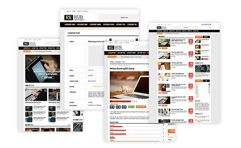 Rehub Hybrid Magazine Shop Review Html Template By Sizam Themeforest Customer Review Website Template