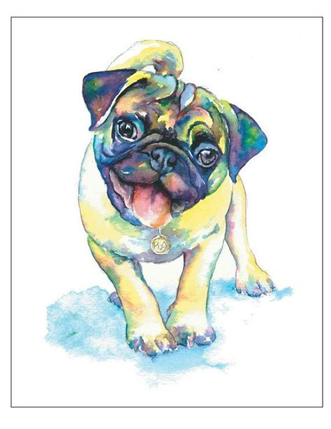 watercolor pug 1000 ideas about pug on davd bowie pug and pug