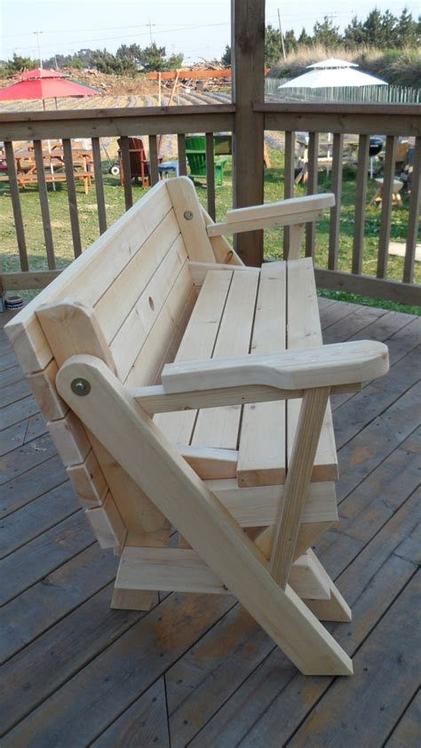 woodwork folding bench and picnic table combo plans pdf plans