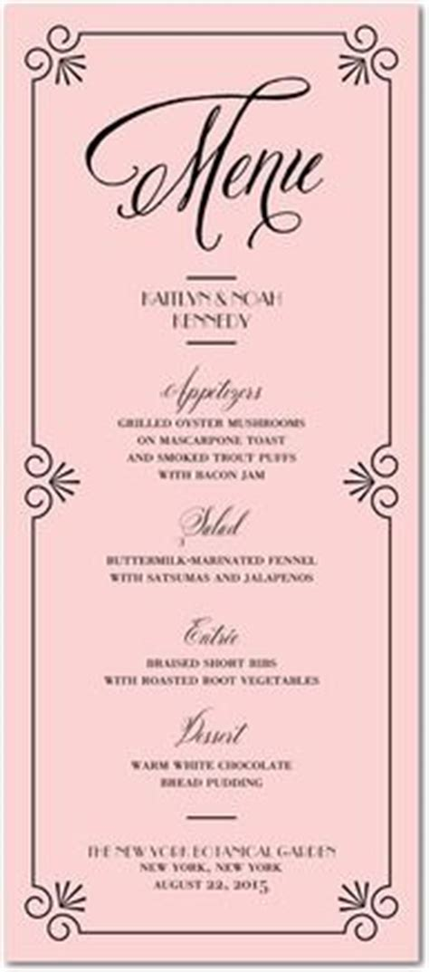 bridal shower menu template rehearsal dinner on rehearsal dinner menu